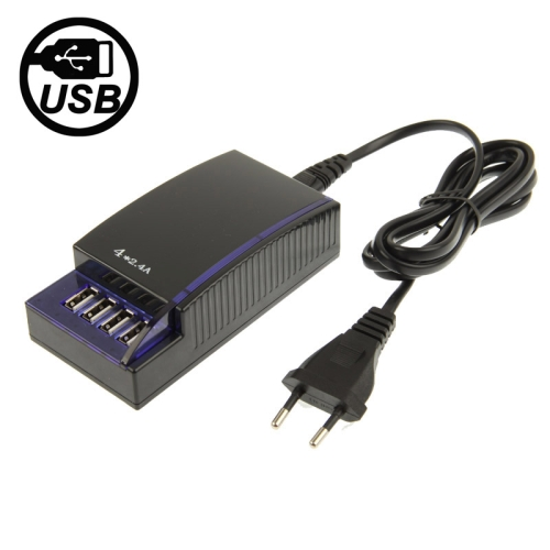 Buy 5V 2.4A 4 Ports USB Power Supply Adapter, EU Plug, Black for $8.24 in SUNSKY store