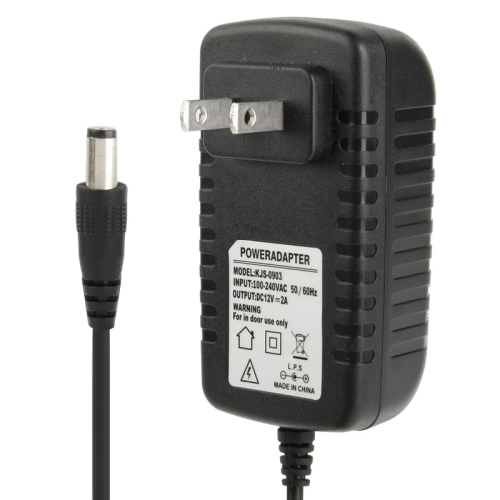 Buy High Quality US Plug AC 100-240V to DC 12V 2A Power Adapter, Tips: 5.5x2.1mm, Cable Length: 1m, Black for $4.16 in SUNSKY store