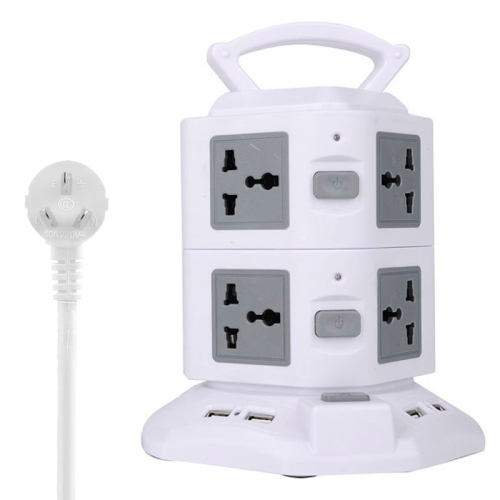 Buy 2 Layers with 8 US/EU/AU/UK Universal Outlets and 6 USB Ports Smart Power Sockets, Overload Protector, AU Plug, Cable Length: 1.5m, Grey for $12.37 in SUNSKY store