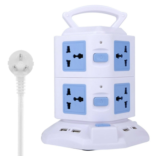 Buy 2 Layers with 8 US/EU/AU/UK Universal Outlets and 6 USB Ports Smart Power Sockets, Overload Protector, AU Plug, Cable Length: 1.5m, Blue for $12.37 in SUNSKY store