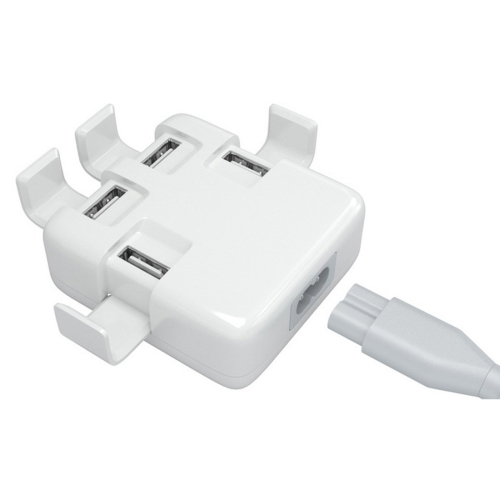 Buy 5V 4A EU Plug 4 Ports Rapid Wall Charger / USB Charger Adapter with Holder for $5.16 in SUNSKY store