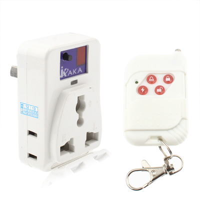 Wireless Remote Control AC Power Socket for Appliances, White