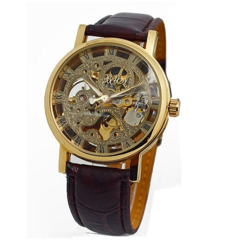 Water Resistant Skeleton Watch