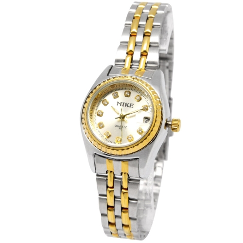 Buy White Dial Women Diamond Quartz Stainless Steel Watch with Date Display / Couple Watch, 301 for $10.20 in SUNSKY store
