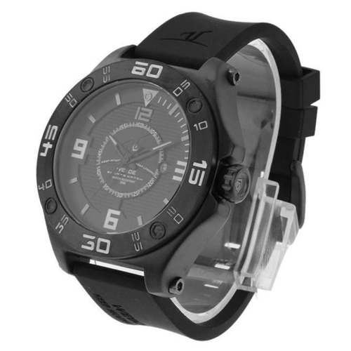 Buy WEIDE UV1502 Calendar Display Pointer Type Oversized Wristwatch 30m Waterproof Silicone Strap Quartz Sport Watch for Men, Grey for $25.41 in SUNSKY store