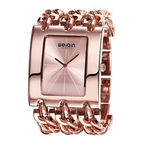 Buy WeiQin 2781 Simple Scale Square Dial Fashion Women Quartz Watch with Alloy Bracelet Band (Rose Gold + Rose Gold) for $13.99 in SUNSKY store