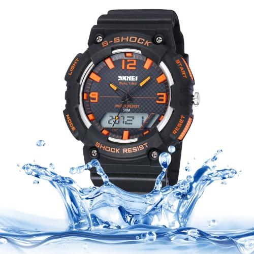 95238722e794 SUNSKY - Reloj LED rojo con pantalla táctil digital con correa de silicona.