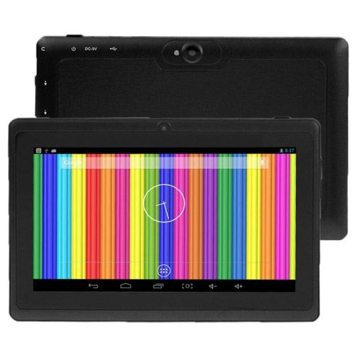 Q88 Tablet PC, 7.0 inch, 512MB+8GB, Android 4.4, Allwinner A33 Quad Core 1.5GHz, WiFi, Bluetooth(Black) free shipping 1pcs new 12 inch tablet pc handwriting screen olm 122c1470 gg ver 02 touch digitizer panel repair