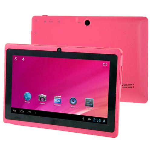 Tablet PC 7.0 inch, 1GB+8GB, Android 4.0, Allwinner A33 Quad Core 1.5GHz, WiFi, Bluetooth, OTG, G-sensor(Pink)