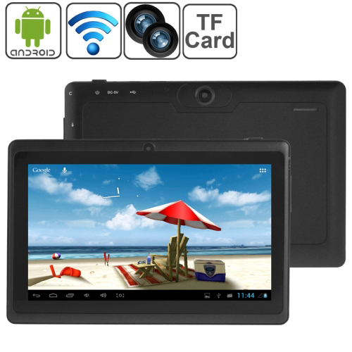 7.0 inch Tablet PC, 512MB+8GB, Android 4.4 Allwinner A33 Quad Core, 1.2GHz(Black)