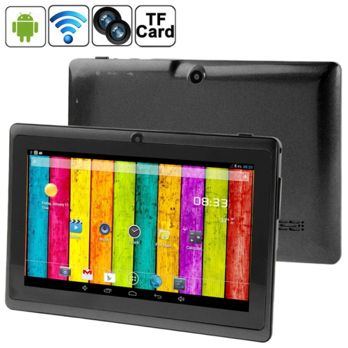 7.0 inch Tablet PC, 512MB+4GB, Android 4.2.2, 360 Degrees Menu Rotation, Allwinner A33 Quad-core, Bluetooth, WiFi(Black)