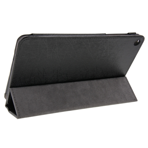 Buy Steel Wire Texture Magnetic Horizontal Flip Leather Case with Three-Folding Holder for Huawei MediaPad S8-701u / T1-821W / T1-823W, Black for $4.09 in SUNSKY store