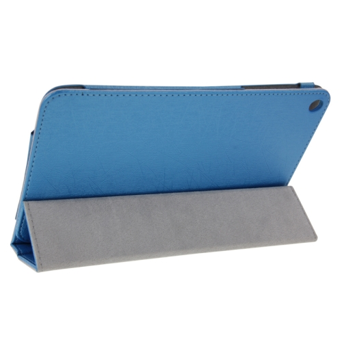 Buy Steel Wire Texture Magnetic Horizontal Flip Leather Case with Three-Folding Holder for Huawei MediaPad S8-701u / T1-821W / T1-823W, Blue for $4.09 in SUNSKY store