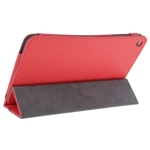 Buy Steel Wire Texture Magnetic Horizontal Flip Leather Case with Three-Folding Holder for Huawei MediaPad S8-701u / T1-821W / T1-823W, Magenta for $4.09 in SUNSKY store