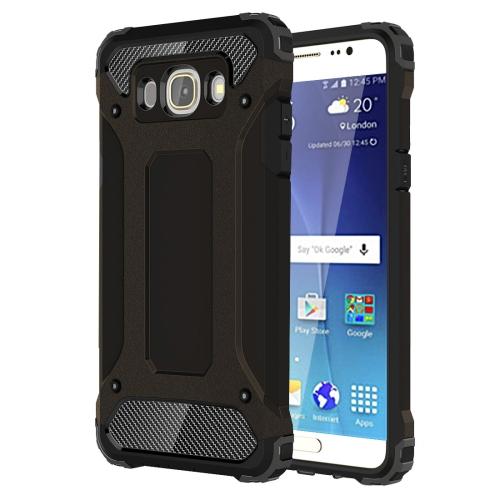 For Galaxy J7 (2016) / J710 Tough Armor TPU + PC Combination Case(Black)