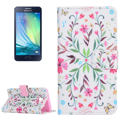 Buy For Samsung Galaxy A3, 2016 / A310 Flower Pattern Horizontal Flip Magnetic Leather Case with Holder and Card Slots & Wallet for $2.55 in SUNSKY store