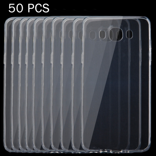 50 PCS for Samsung Galaxy J7, 2016 / J710 0.75mm Ultra-thin Transparent TPU Protective Case