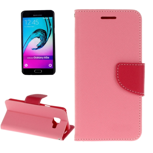 Buy For Samsung Galaxy A3, 2016 / A310 Cross Texture Horizontal Flip Leather Case with Magnetic Buckle & Holder & Card Slots & Wallet , Pink for $2.16 in SUNSKY store