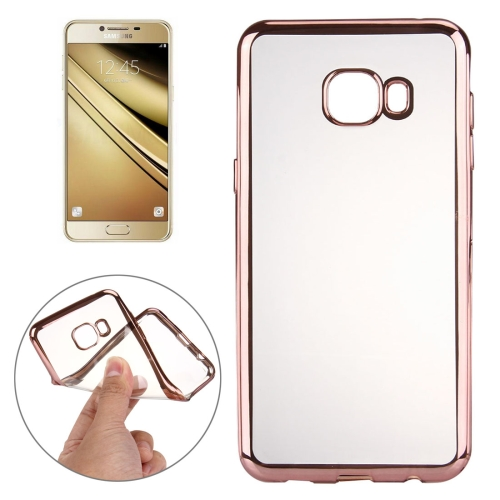 Buy For Samsung Galaxy A7, 2016 / A710 Electroplating Transparent Soft TPU Protective Cover Case (Rose Gold) for $1.21 in SUNSKY store