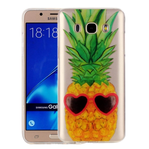 Buy For Samsung Galaxy J7, 2016 / J710 Pineapple Pattern IMD Workmanship Soft TPU Protective Case for $1.27 in SUNSKY store
