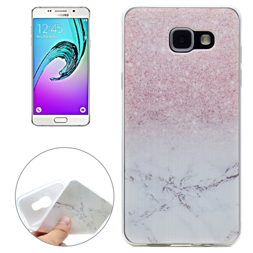 Buy For Samsung Galaxy A5, 2016 / A510 Marbling Pattern Transparent Soft TPU Protective Back Cover Case for $1.16 in SUNSKY store