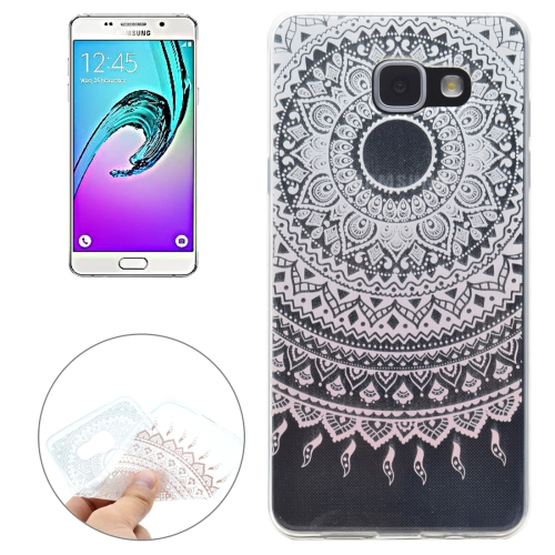 Buy For Samsung Galaxy A5, 2016 / A510 Pink Pattern Transparent Soft TPU Protective Back Cover Case for $1.16 in SUNSKY store