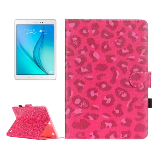 Buy For Samsung Galaxy Tab A 9.7 / T550 Magenta Leopard Pattern Horizontal Flip Leather Case with Holder & Card Slots & Wallet for $5.64 in SUNSKY store