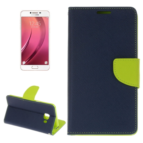 Buy For Samsung Galaxy C5 Cross Texture Horizontal Flip Leather Case with Holder & Card Slots & Wallet (Dark Blue) for $2.16 in SUNSKY store