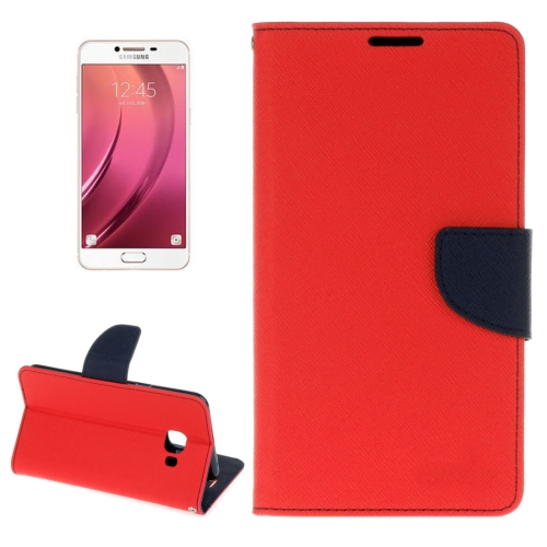Buy For Samsung Galaxy C5 Cross Texture Horizontal Flip Leather Case with Holder & Card Slots & Wallet, Red for $2.16 in SUNSKY store