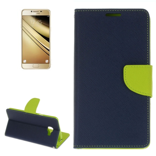 Buy For Samsung Galaxy C7 Cross Texture Horizontal Flip Leather Case with Holder & Card Slots & Wallet (Dark Blue) for $2.16 in SUNSKY store