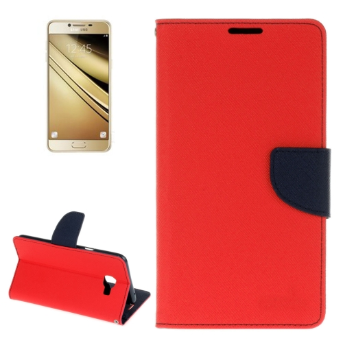 Buy For Samsung Galaxy C7 Cross Texture Horizontal Flip Leather Case with Holder & Card Slots & Wallet, Red for $2.16 in SUNSKY store