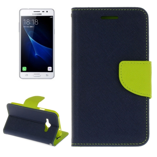 Buy For Samsung Galaxy J3 Pro Cross Texture Horizontal Flip Leather Case with Holder & Card Slots & Wallet (Dark Blue) for $2.16 in SUNSKY store