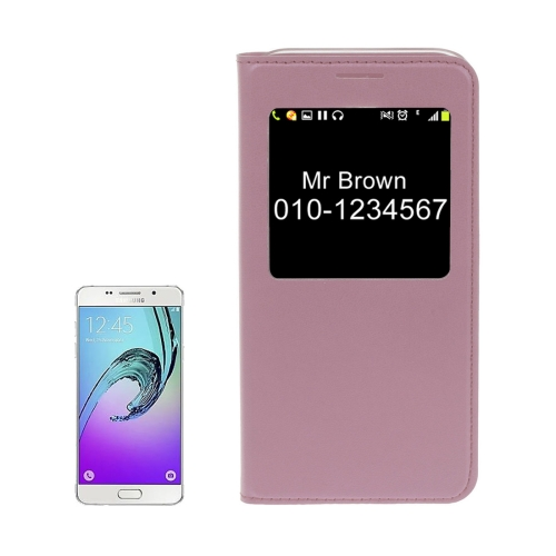 Buy For Samsung Galaxy A5, 2017 / A520 Litchi Texture Horizontal Flip PU Leather Case with Call Display ID, Pink for $2.57 in SUNSKY store