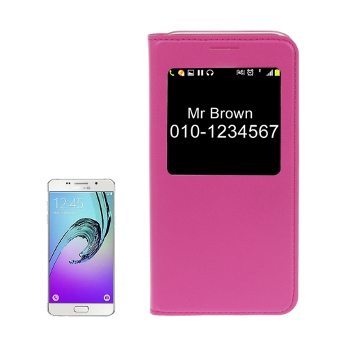 Buy For Samsung Galaxy A5, 2017 / A520 Litchi Texture Horizontal Flip PU Leather Case with Call Display ID, Magenta for $2.57 in SUNSKY store