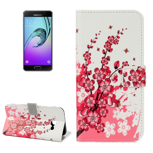 Buy For Samsung Galaxy A5, 2017 / A520 Plum Blossom Pattern Lotus Litchi Texture Horizontal Flip Leather Case with Holder & Card Slots & Wallet for $2.33 in SUNSKY store