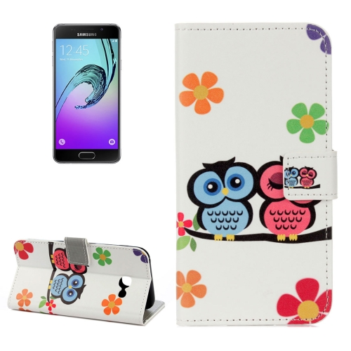 Buy For Samsung Galaxy A5, 2017 / A520 Lovers Owl Pattern Litchi Texture Horizontal Flip Leather Case with Holder & Card Slots & Wallet for $2.33 in SUNSKY store