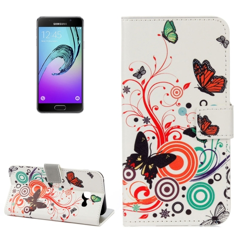 Buy For Samsung Galaxy A5, 2017 / A520 White Butterfly Pattern Litchi Texture Horizontal Flip Leather Case with Holder & Card Slots & Wallet for $2.22 in SUNSKY store
