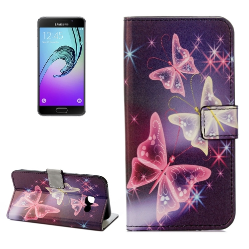 Buy For Samsung Galaxy A5, 2017 / A520 Purple Crystal Butterflies Pattern Litchi Texture Horizontal Flip Leather Case with Holder & Card Slots & Wallet for $2.33 in SUNSKY store