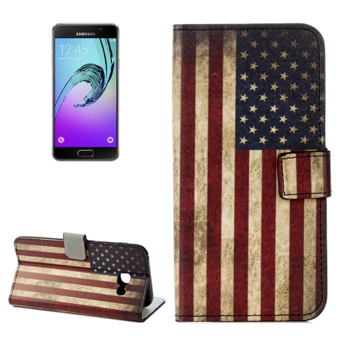Buy For Samsung Galaxy A5, 2017 / A520 US Flag Pattern Litchi Texture Horizontal Flip Leather Case with Holder & Card Slots & Wallet for $2.33 in SUNSKY store