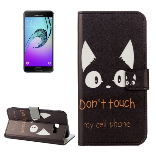 Buy For Samsung Galaxy A5, 2017 / A520 Donot Touch My Cell Phone Words Cat Pattern Litchi Texture Horizontal Flip Leather Case with Holder & Card Slots & Wallet for $2.33 in SUNSKY store