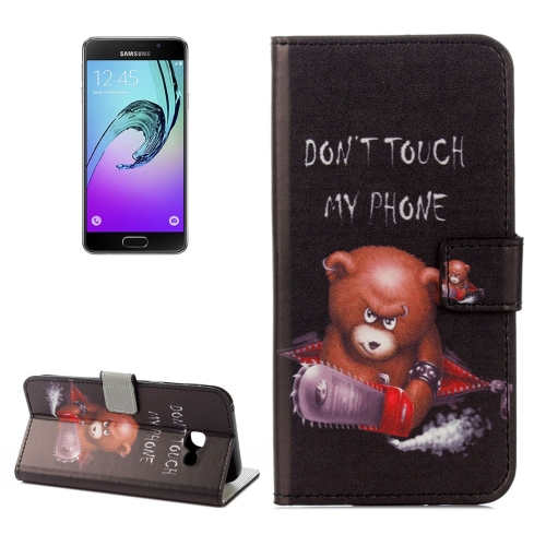Buy For Samsung Galaxy A5, 2017 / A520 DON0T TOUCH MY PHONE Words Little Bear Pattern Litchi Texture Horizontal Flip Leather Case with Holder & Card Slots & Wallet for $2.33 in SUNSKY store