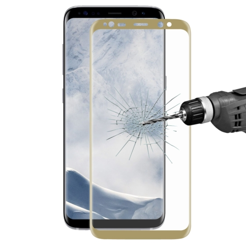 Buy ENKAY Hat-Prince for Samsung Galaxy S8 + / G9550 0.26mm 9H Surface Hardness 3D Explosion-proof Full Screen Curved Heat Bending Tempered Glass Color Screen Film, Gold for $4.98 in SUNSKY store