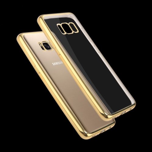 Buy For Samsung Galaxy S8 Electroplating Frame Soft TPU Protective Case, Gold for $1.16 in SUNSKY store
