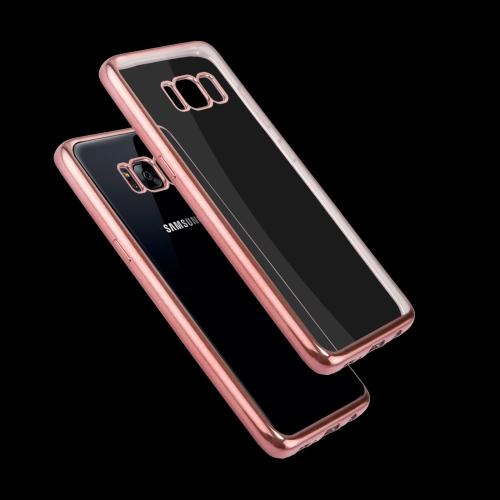 Buy For Samsung Galaxy S8 Electroplating Frame Soft TPU Protective Case (Rose Gold) for $1.16 in SUNSKY store