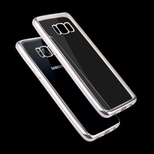 Buy For Samsung Galaxy S8 + / G955 Electroplating Frame Soft TPU Protective Case, Silver for $1.16 in SUNSKY store