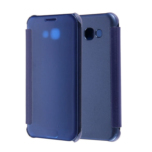 Buy For Samsung Galaxy A3, 2017 / A320 High Transparency Horizontal Flip Leather Case with Sleep / Wake-up Function (Dark Blue) for $2.96 in SUNSKY store