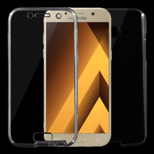 For Samsung Galaxy A3, 2017 / A320 0.75mm Double-sided Ultra-thin Transparent TPU Protective Case, Black