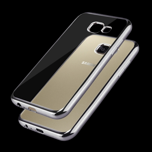 Buy For Samsung Galaxy A3, 2017 / A320 Electroplating Frame Soft TPU Protective Case, Grey for $1.17 in SUNSKY store