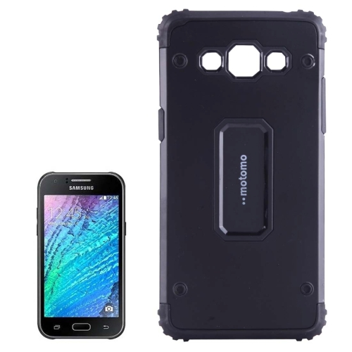 Buy MOTOMO for Samsung Galaxy J5 / J500 Metal + TPU Combination Protective Back Case, Black for $1.47 in SUNSKY store