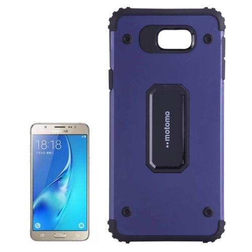 MOTOMO for Galaxy A7 (2016) / A710 Metal + TPU Combination Protective Back Case(Dark Blue)